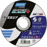 DISQUE  A TRONCONNER NORTON SUPER BLUE 4 125 X 1,6 MM