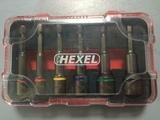Coffret de douilles 1/4'' à code couleur monoblocs magnétiques HEXEL DMS6