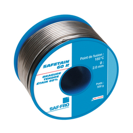 BOBINE ETAIN 500 GR  SAFETAIN 60 R DIAMETRE 1.5 MM