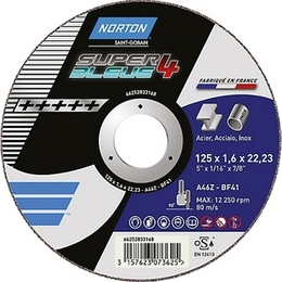 Disque à tronçonner NORTON SUPER BLUE 4 125 X 1,6 mm