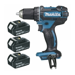 Perceuse visseuse MAKITA 18 V Li-Ion 4 Ah Ø 13 mm  DDF482RM3J ( 3 batteries)