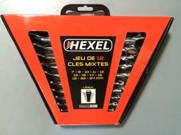 Jeu de 12 clés mixtes HEXEL GWS12