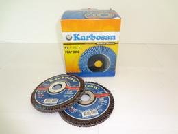 DISQUE LAMELLE FIBRE PLAT 125x22  G 60 (boite de 10 disques)
